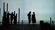 Dembi (Kimberly Scott), Cranston (Danforth Comins) and Adjua (June Carryl) on the docks of Bristol, RI. Photo by Jenny Graham