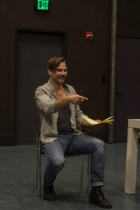 Director Michael Place in rehearsal