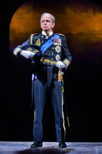 Robert Joy (King Charles III) in King Charles III at Seattle Repertory Theatre. Photo by Michael Doucett.