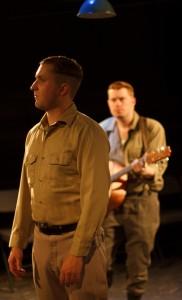 Benjamin McFadden as SS officer Kurt;  Ben Burris as Gerhardt -- Photo: Shane Regan