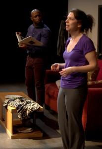 Tamron Harrison as Alioune, with Kiki Abba -- Photo: Shane Regan