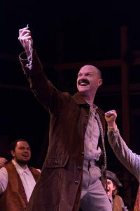 """(L to R) KYLE SINCLAIR (Black Stache) from the Lakewood Playhouse Production of """"PETER & THE STARCATCHER"""" Photos by Tim Johnston"""