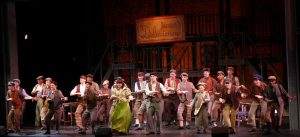 The dancing cast of Disney's Newsies. Photo credit, Kat Dollarhide.