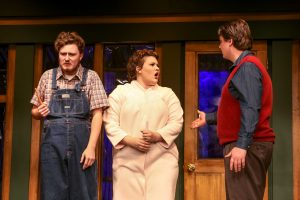 Ellard (Charlie Stevens), Catherine (Caiti Burke) & David (Cody Wyld Flower). Photo credit Dennis K Photography