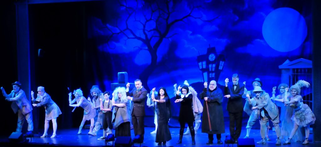 "The ensemble cast of ""The Addams Family"" at Tacoma Musical Playhouse. Photos by Kat Dollarhide."