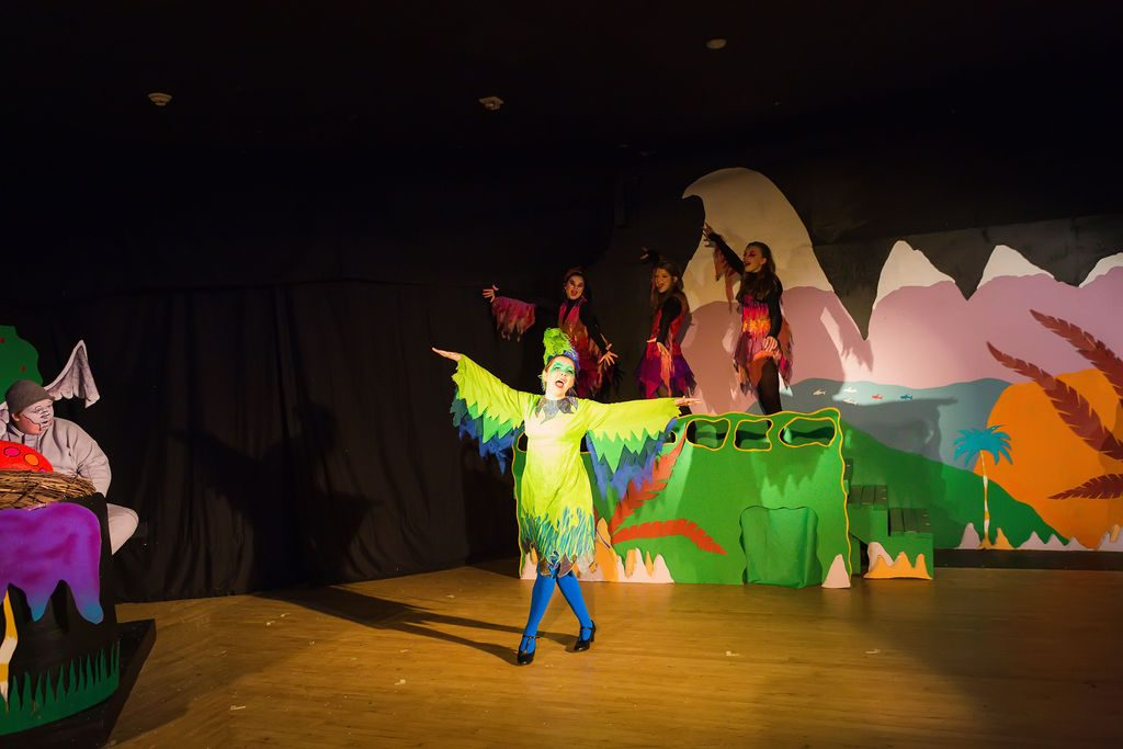 "Abby Dickson as Gertrude McFuzz in ""Seussical the Musical ""at WWCA."