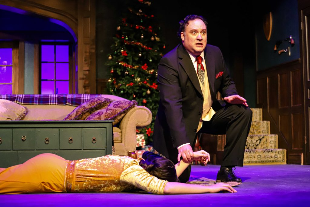 """Daria (Danielle Locken) & Gillette (Dave Champagne) in this treat for TLT and for the audience. """"Holmes for the Holidays."""" in this treat for TLT and for the audience. """"Holmes for the Holidays."""""""