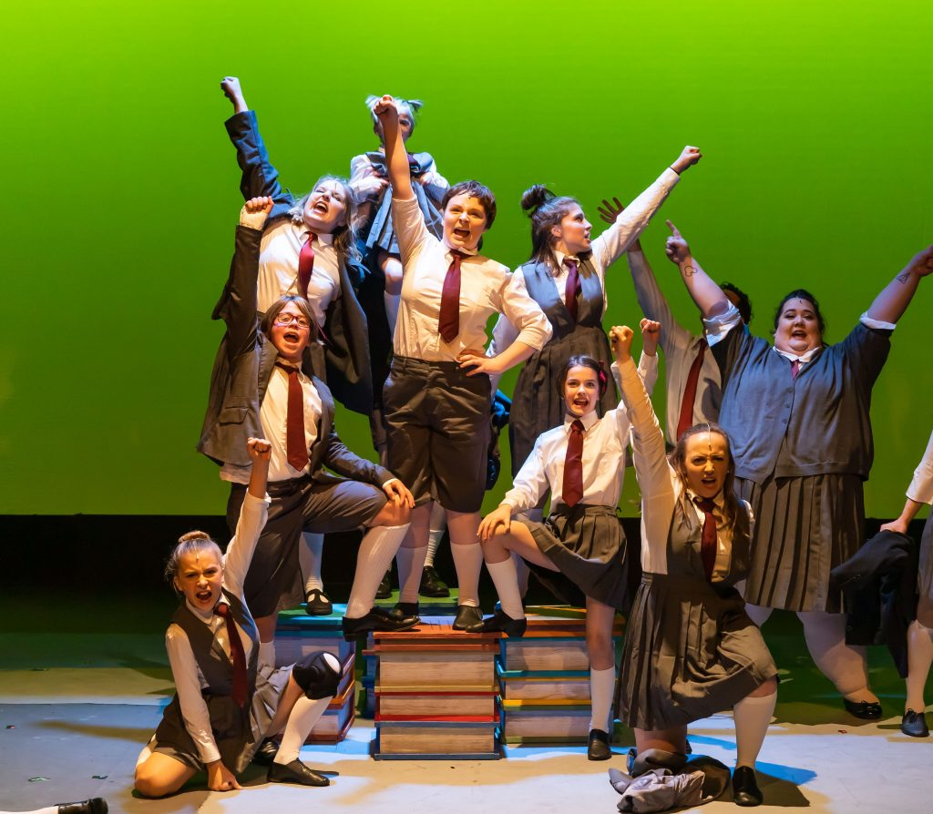 """The ensemble cast of """"Matilda: The Musical"""" for Bainbridge Performing Arts. Photos by Alfonso Barrera."""