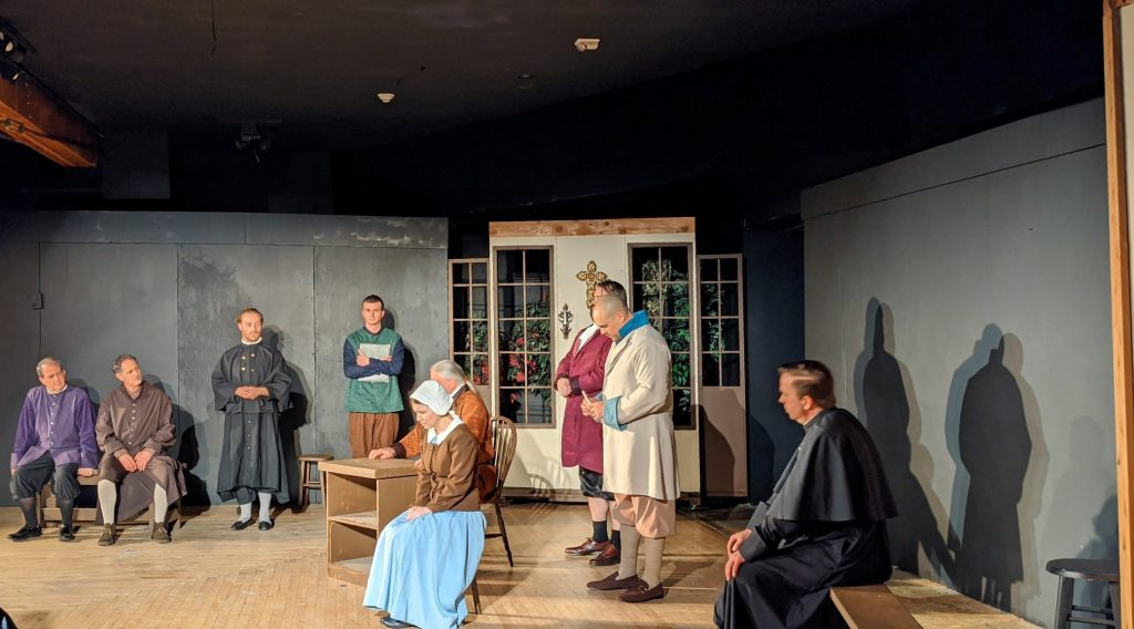 """The ensemble cast of """"The Crucible"""" at WWCA"""